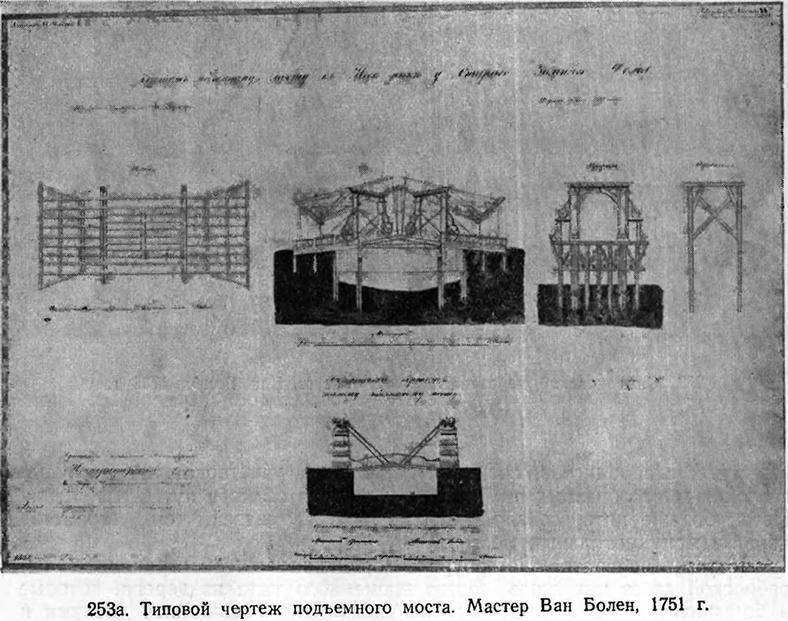 Типовой чертеж подъемного моста