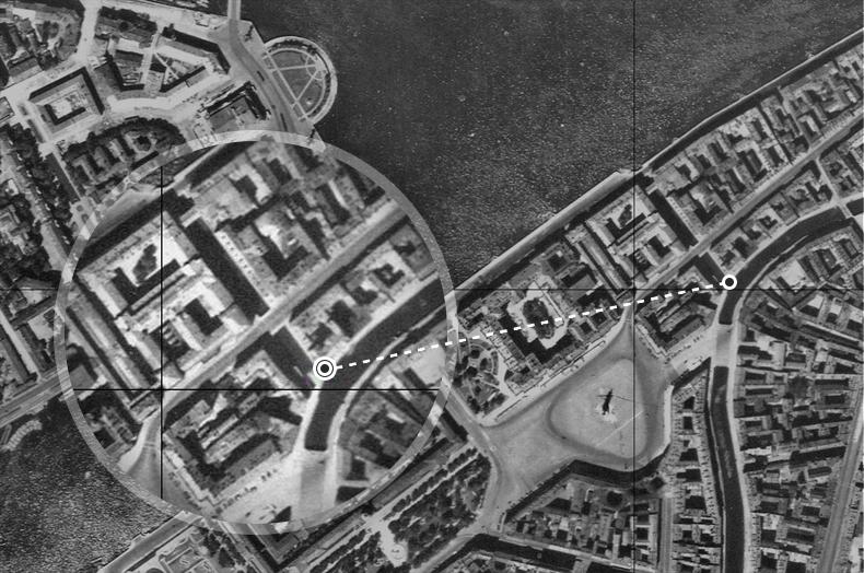 2-й Зимний мост на аэрофотосъемке 1942 года