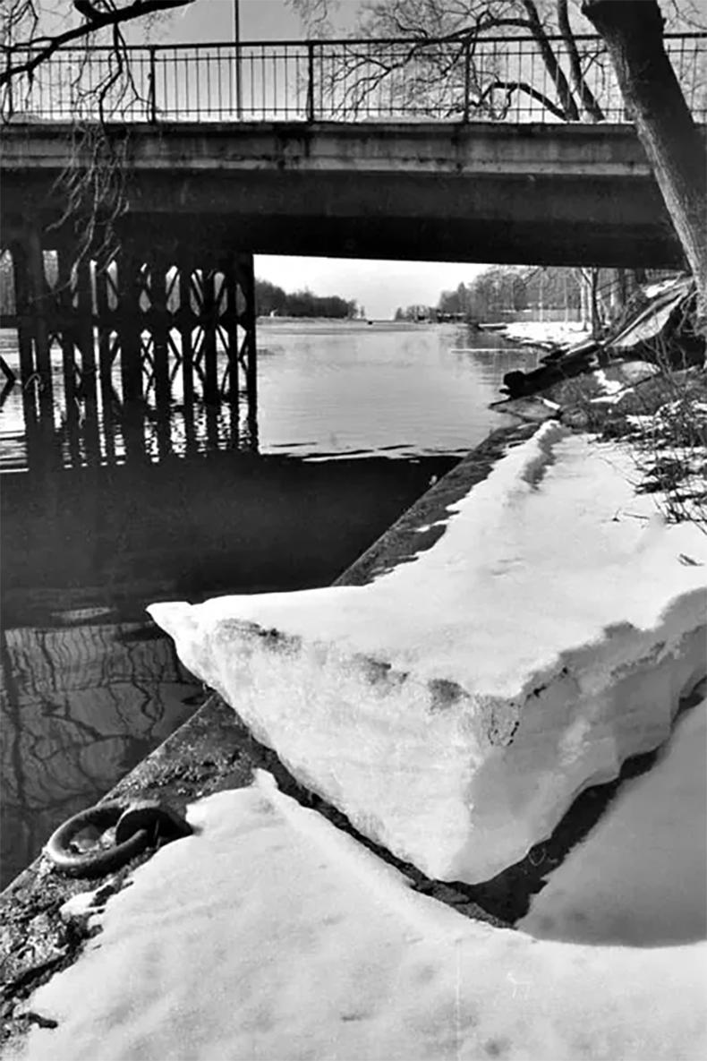 3-й Елагин мост в 1990 году