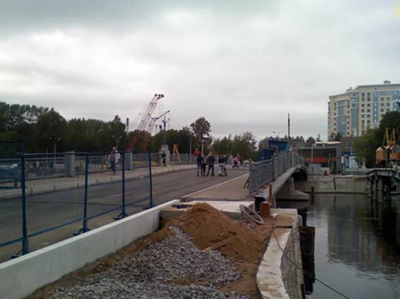 Строительство нового 3-го  Елагина моста, 2009 год