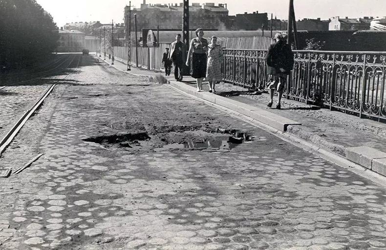 Барочный мост в  1950-х годах