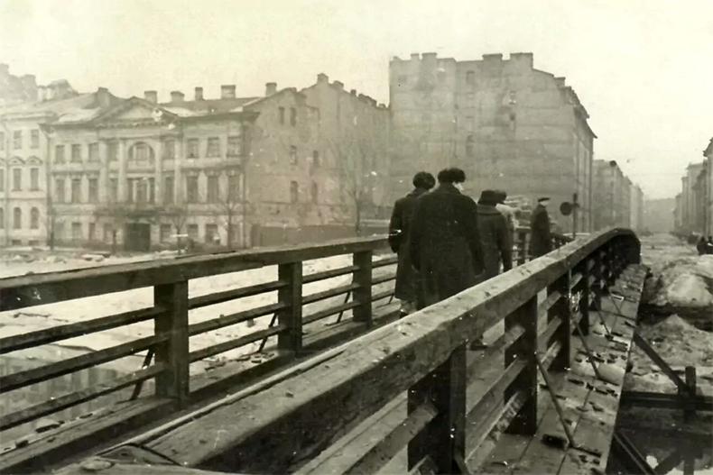 Бердов мост в 1950-х годах