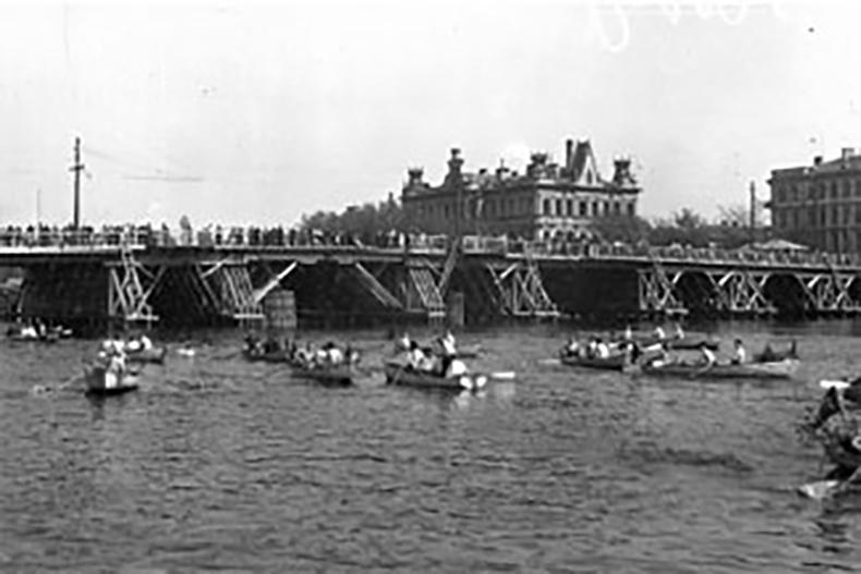 Крестовский мост в 1929 году