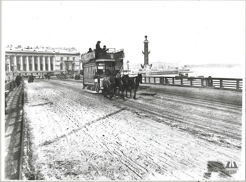 Конка на Дворцовом мосту