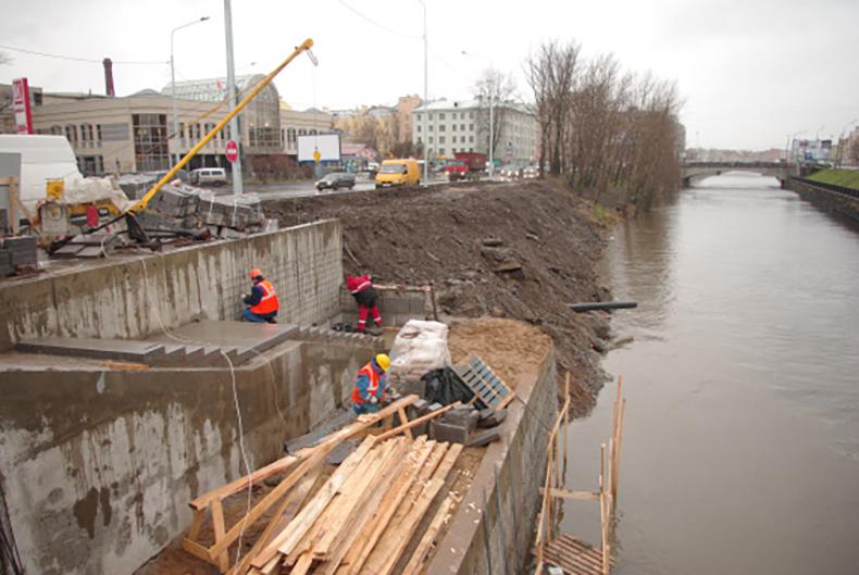 Ход строительства Каретного моста