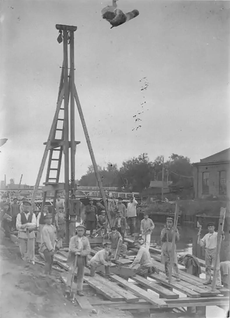Восстановление моста на реке Охте, 1922 год