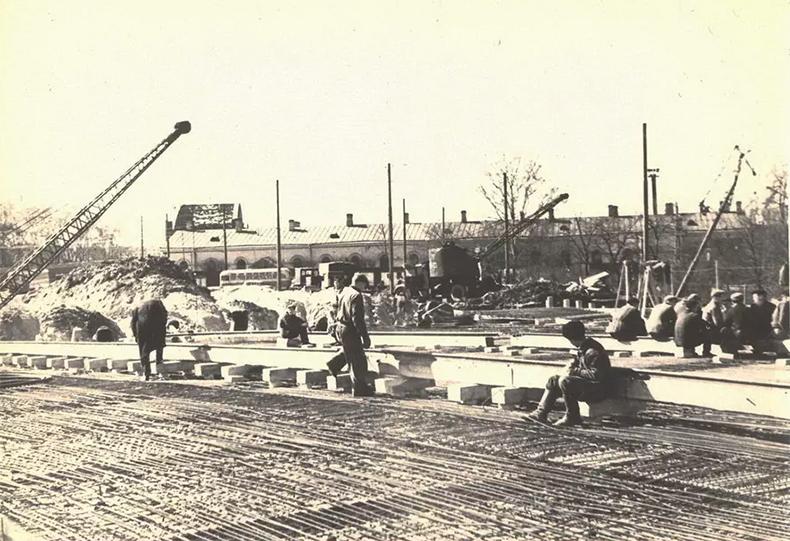 Ход строительства Комаровского моста