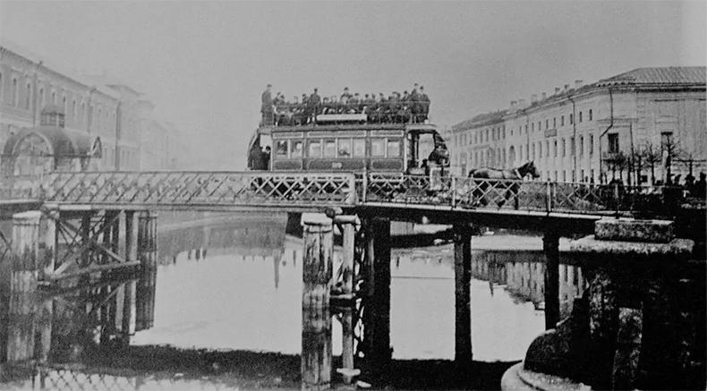 Конка на новом мосту