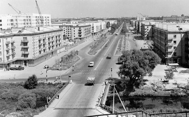 Ланской мост в середине 1960-х годов
