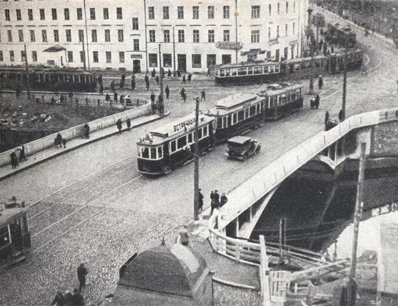 Перестроенный Ново-Калинкин мост, начало 1930-х годов