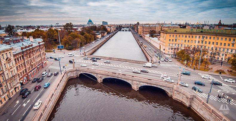 Вид на Обуховский мост и Обуховский сквер