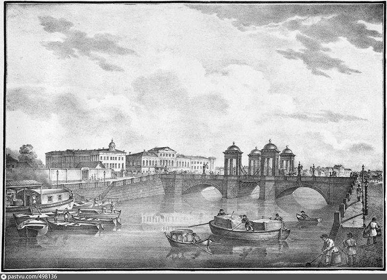 Обуховский мост, 1-я четверть XIX века