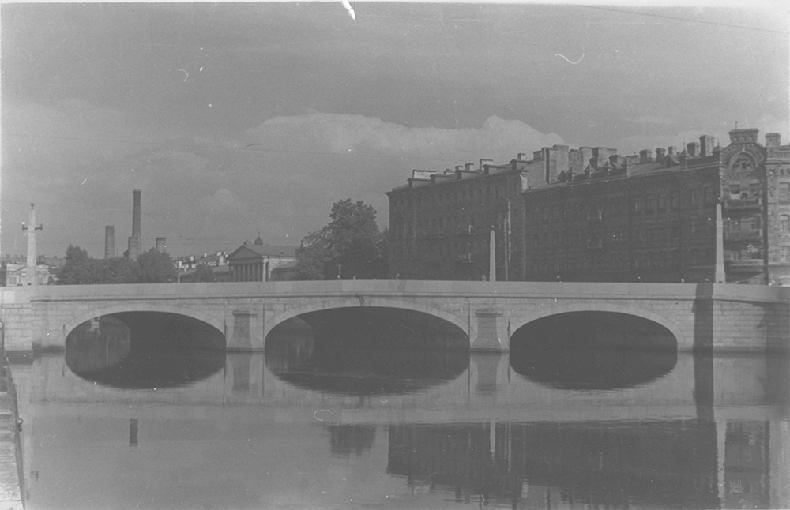 Обуховский мост в конце 1940-х – 1950 году