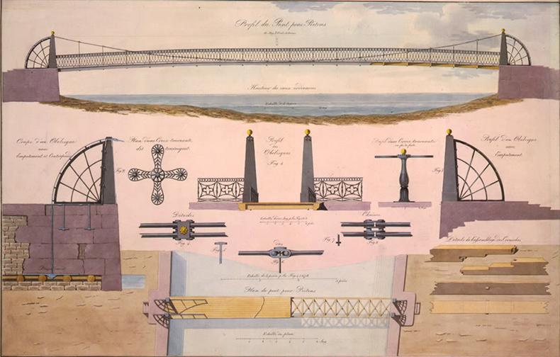 Чертежи Почтамтского моста Вильгельма фон Треттера