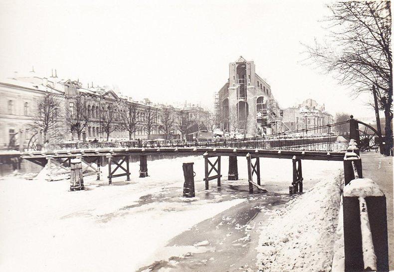 Почтамтский мост, фото 1939 года, по материалам  ЦГАНТД СПб