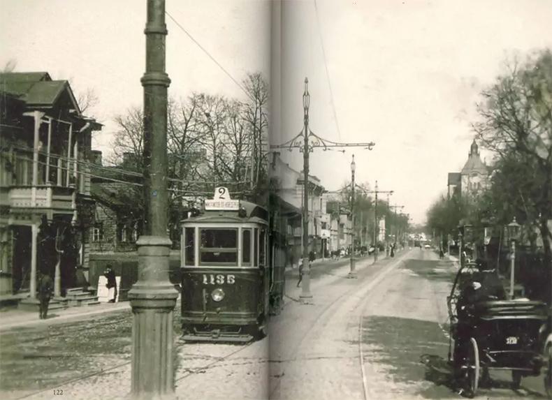 Трамвай на Каменноостровском проспекте, 1908 год