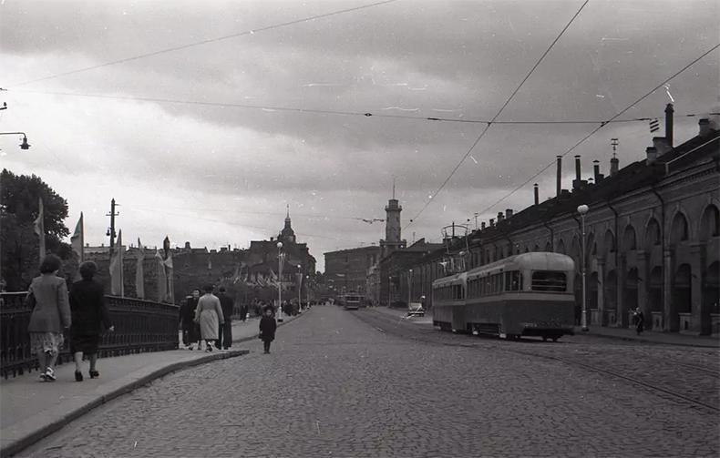Старо-Никольский мост, 1950-е годы
