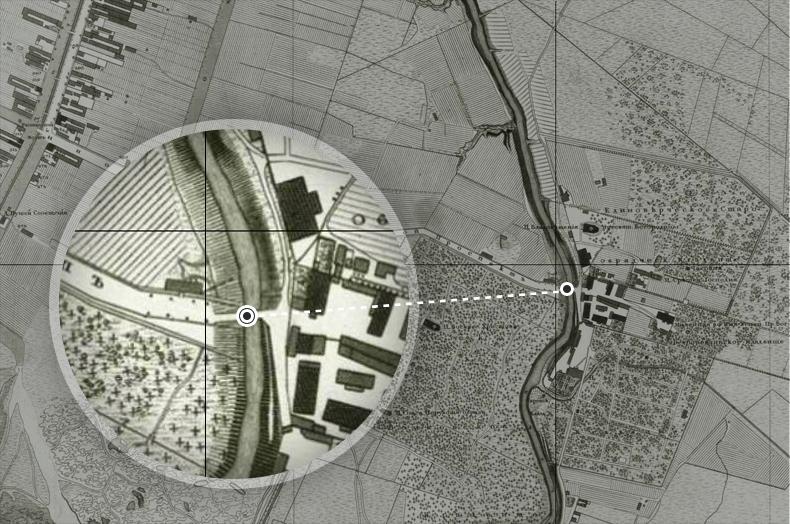 Старообрядческий мост на плане Санкт-Петербурга 1828 года