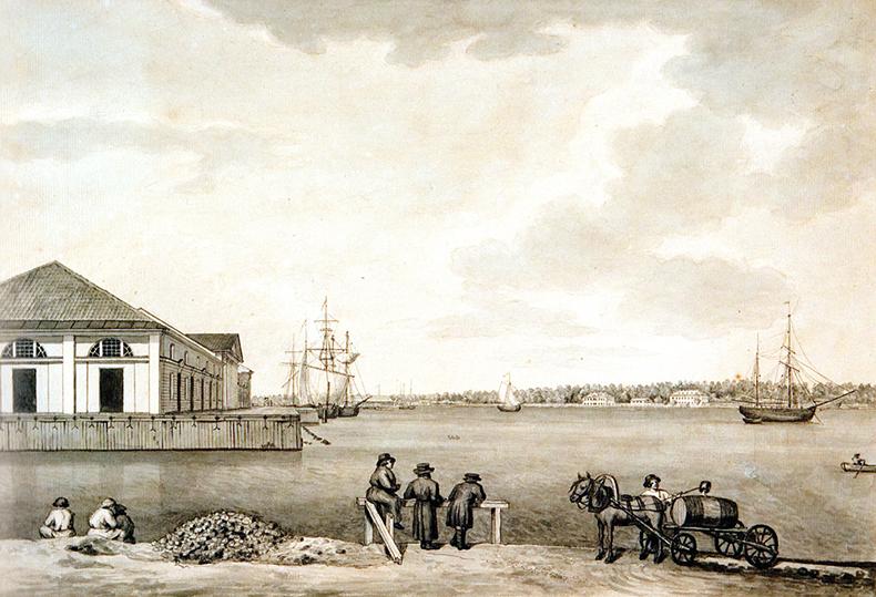 Галактионов С.Ф. Склады Винного городка на Малой Неве, начало 1820-х годов