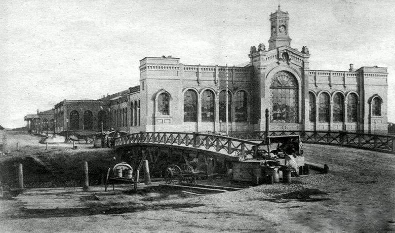 Деревянная переправа, предшественница Варшавского моста