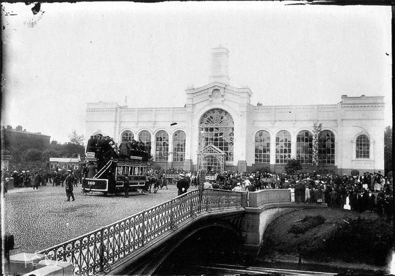 Металлический Варшавский мост в 1904 году