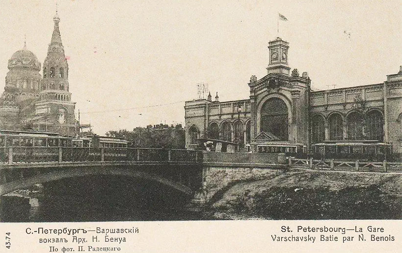 Трамвай на Варшавском мосту, 1908–1909 годы