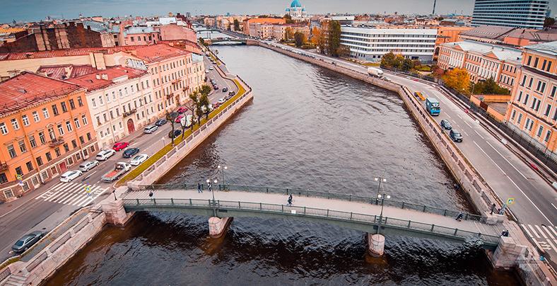 Современный вид на мост и фабрику Гознака