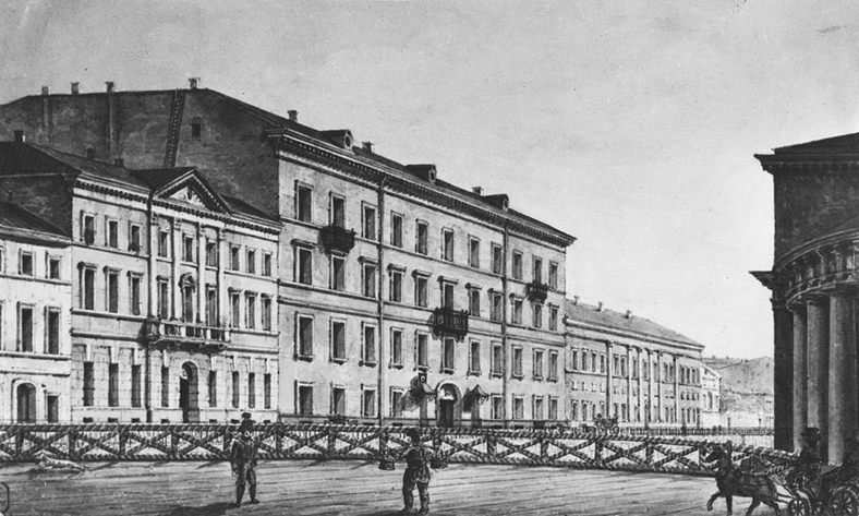 Мост через Мойку, начало XIX века. Карл Иванович Кольман (1786—1847)