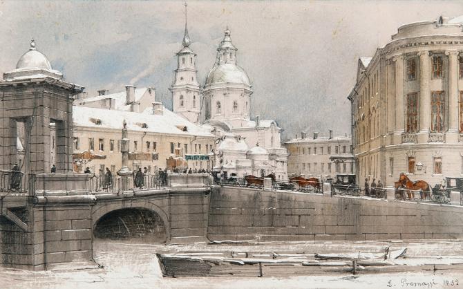 Луиджи Премацци, Симеоновский мост, 1852 год