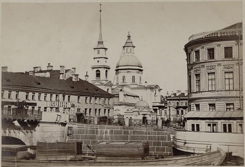 Симеоновский мост в 1860-е годы