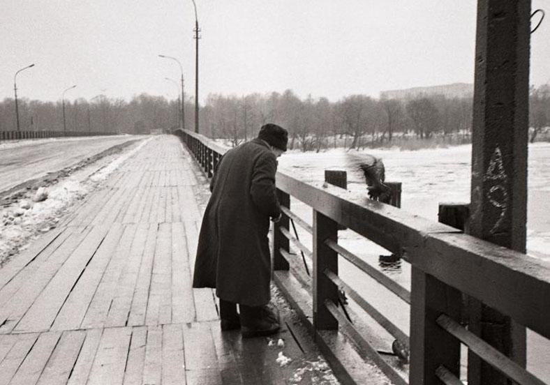 Большой Петровский мост, 1980-е годы,  автор фото Сергей Подгорков
