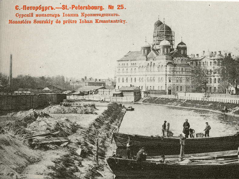 Историческое фото монастыря с Геслеровского моста: https://pastvu.com/p/118618