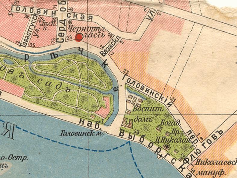Мост на карте 1913 года: http://p1.citywalls.ru/photo_48-49453.jpg?mt=1279220395