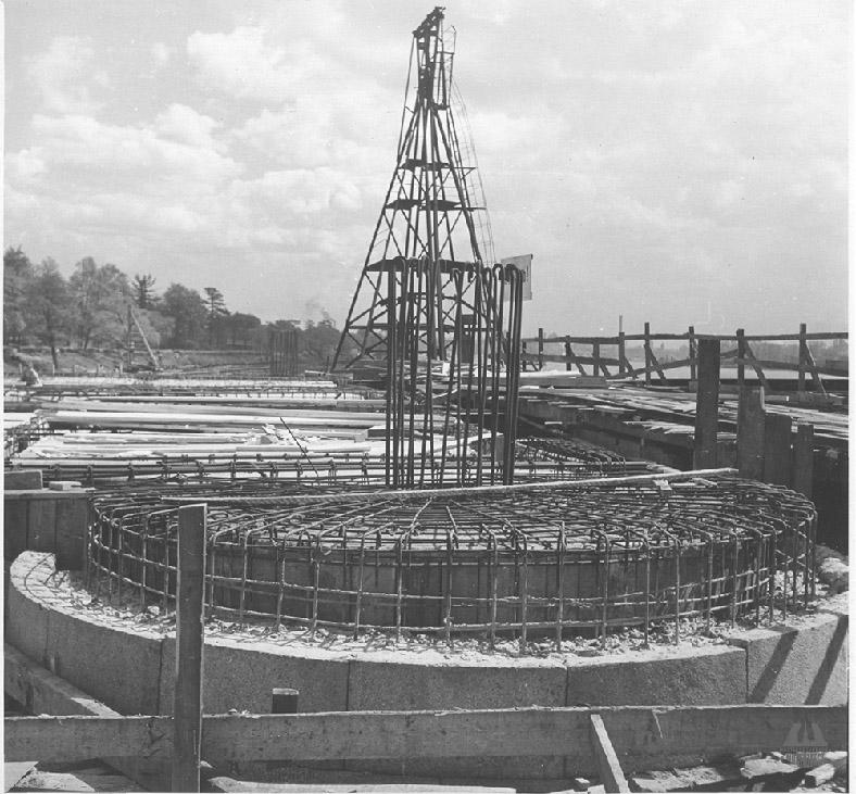 Ход строительства нового моста, 1953–1954 годы