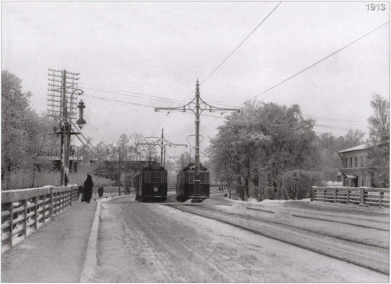 Трамвай на Каменноостровском мосту, 1908–1915 годы