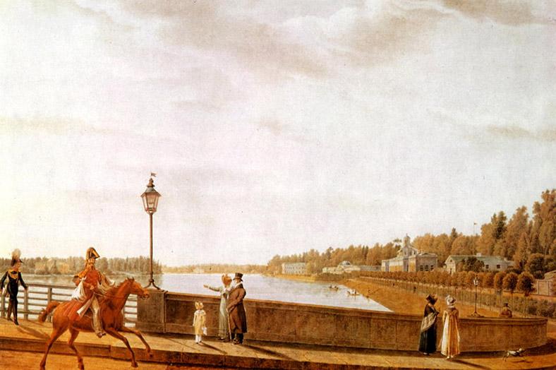 Галактионов С.Ф. Въезд на мост со стороны Каменного острова. 1822 год.