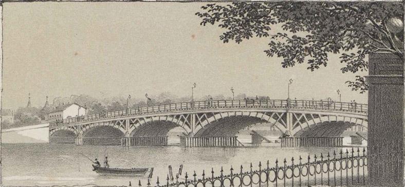 Бетанкуровский мост. Русский художественный листок № 20, 1853 год.