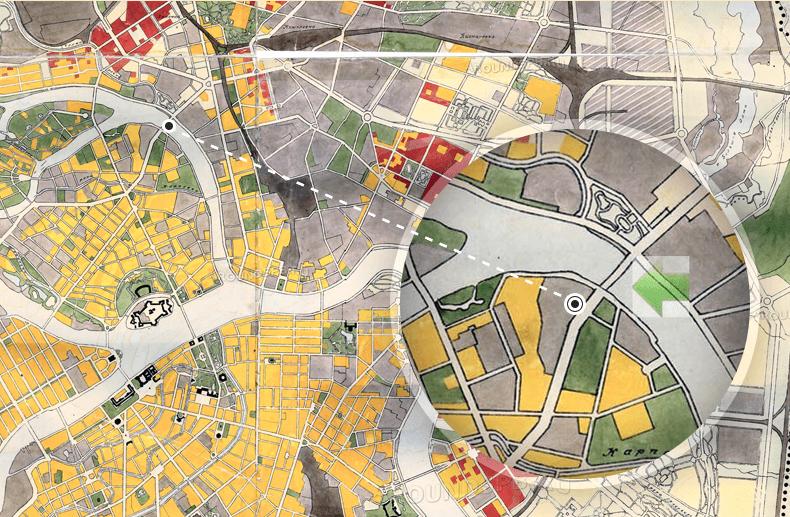 Генплан развития Ленинграда 1959 года. Источник: http://www.aroundspb.ru/karty/227/len_1959_plan.html