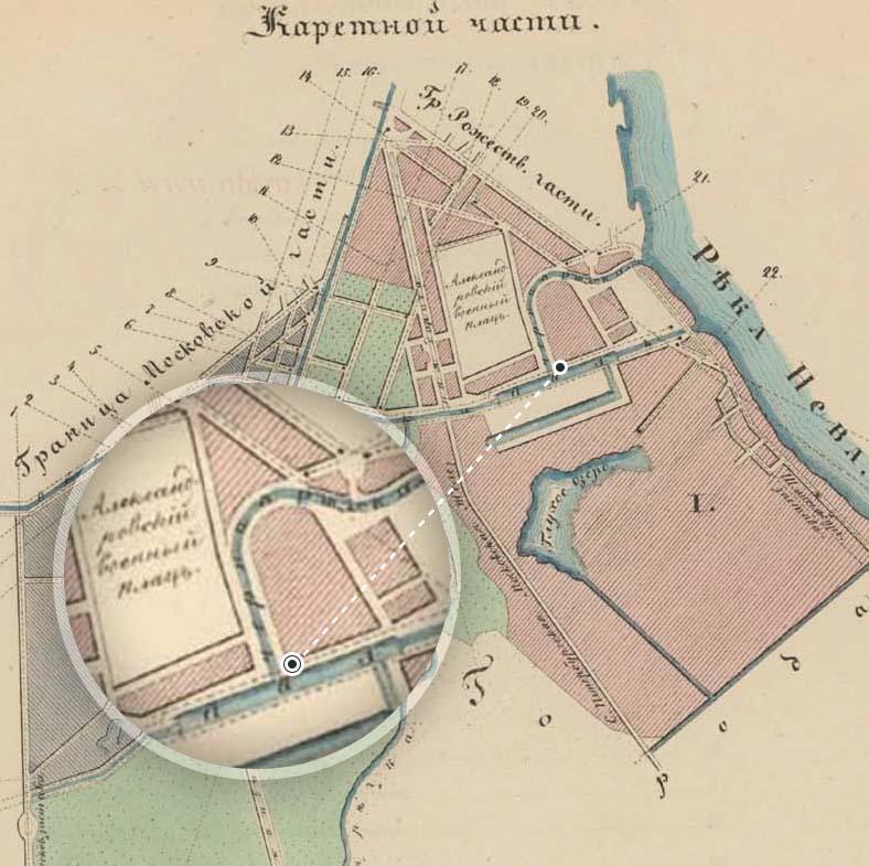 План Каретной части Санкт-Петербурга 1849 года