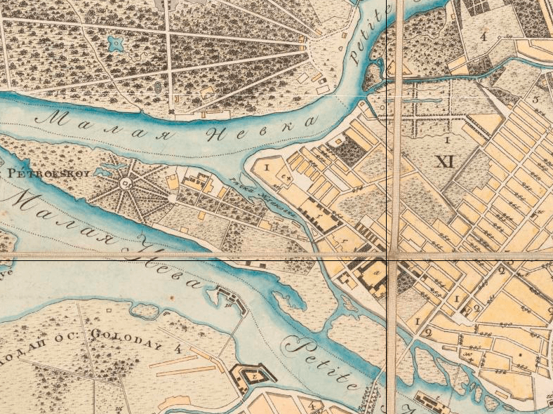 Речка Ждановка в 1830 году, источник: http://www.retromap.ru/