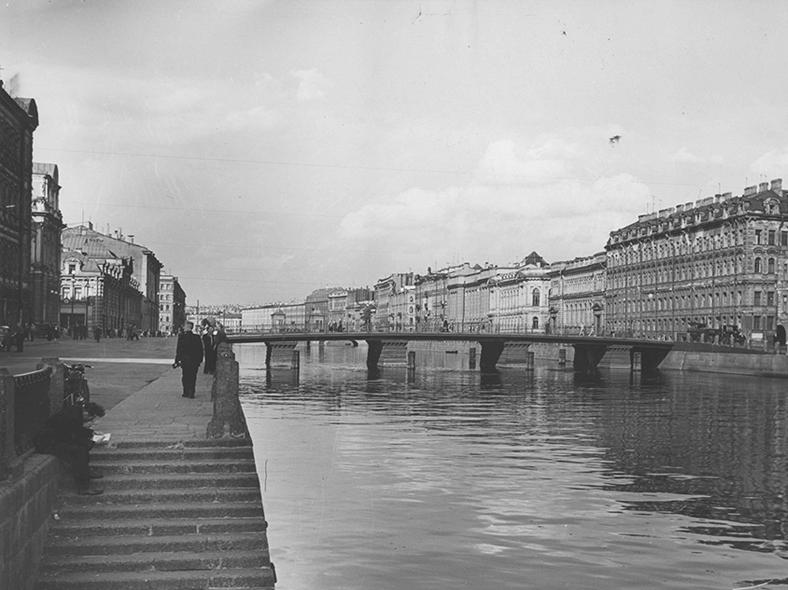 Мост в 1950-х годах