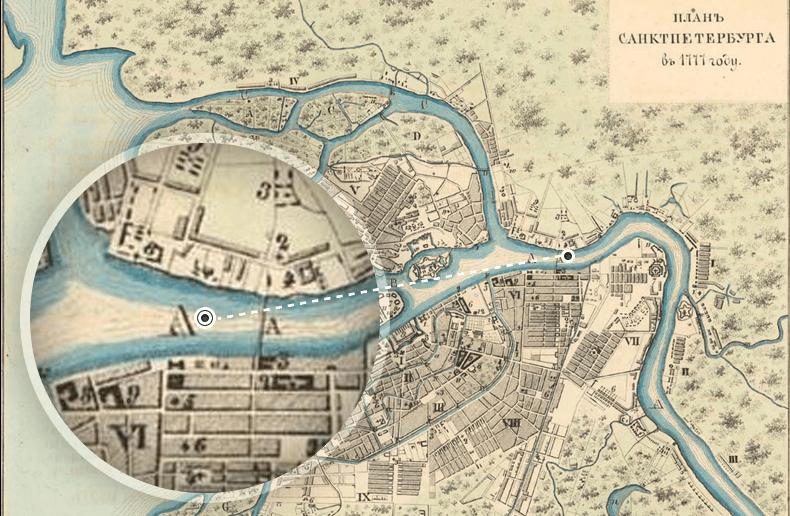 План города 1777 года