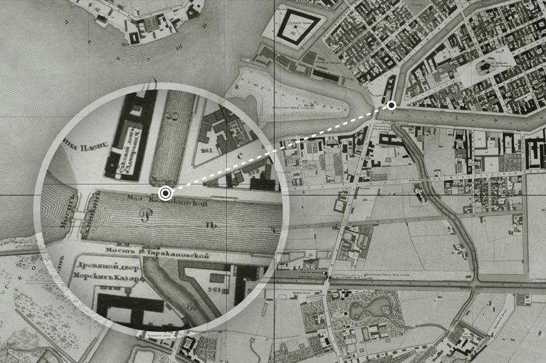 На плане Санкт-Петербурга 1828 года мост обозначен как «Мало-Калинкинский»