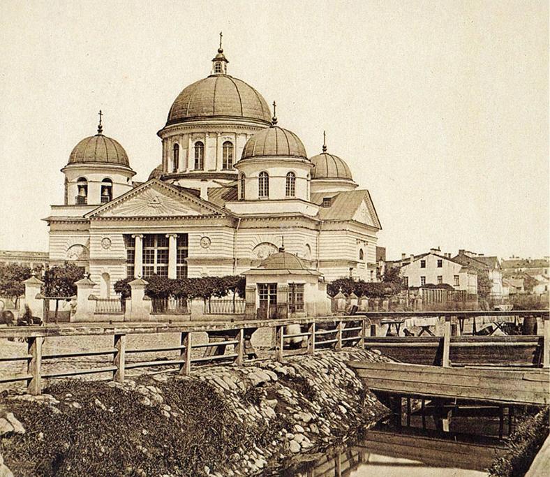 Лиговский канал у Знаменской церкви (современная пл. Восстания), 1860-е годы