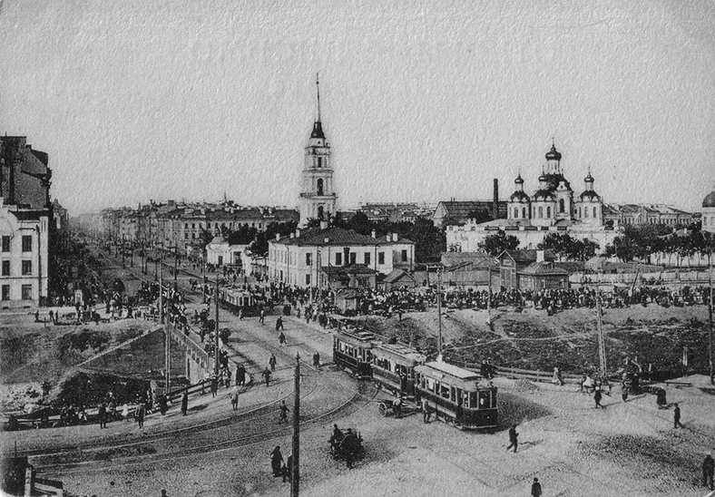 Мост на открытке 1920-х годов