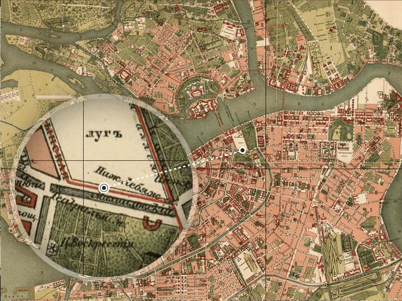 План Санкт-Петербурга начала 1880-х годов. Источник: http://retromap.ru/