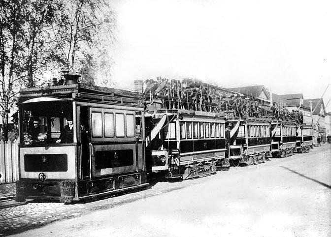 Паровой трамвай на Шлиссельбургском проспекте