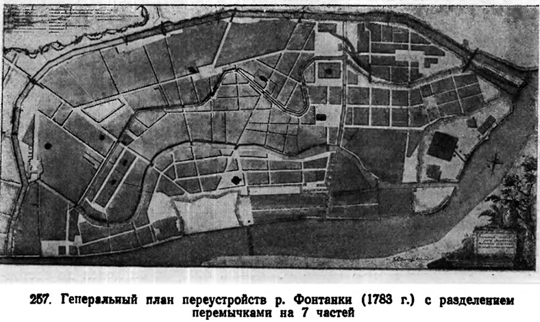 Генеральный план переустройства р. Фонтанки (1783 г.)