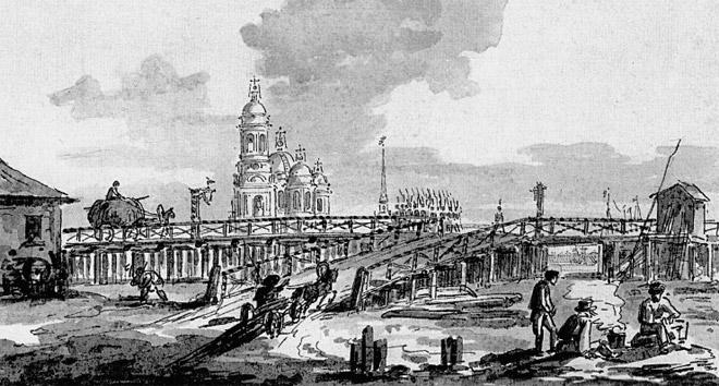 Максим Воробьев. Тучков мост. Конец 1810-х годов