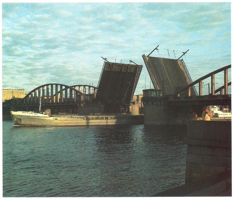 Володарский мост в 1970-х годах